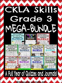 CKLA Grade 3 Skills Year Long MEGA BUNDLE