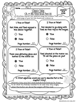 CKLA Grade 3 Unit 1 Ch. 10 Classic Tales Reading Quiz