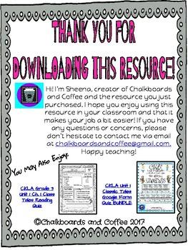 CKLA Grade 3 Unit 1 Ch. 4 Classic Tales Reading Quiz
