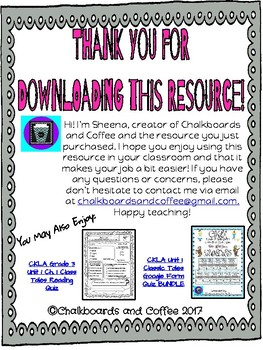 CKLA Grade 3 Unit 1 Ch. 5 Classic Tales Reading Quiz