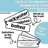 CKLA Grade 3 Unit 1 Vocabulary Words and Definitions