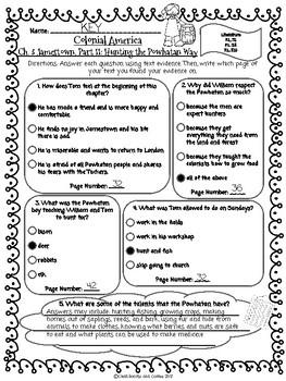 CKLA Grade 3 Unit 10 Ch. 3 Colonial America Reading Quiz