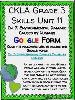 CKLA Grade 3 Unit 11: Ecology Ch. 7 Google Form