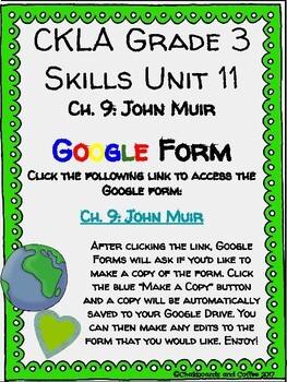 CKLA Grade 3 Unit 11: Ecology Ch. 9 Google Form