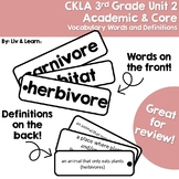 CKLA Grade 3 Unit 2 Vocabulary Words and Definitions