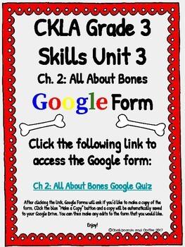 CKLA Grade 3 Unit 3: Human Body Ch. 2 Google Form