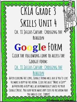 CKLA Grade 3 Unit 4: Ancient Rome Ch. 11 Google Form