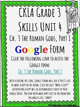 CKLA Grade 3 Unit 4: Ancient Rome Ch. 3 Google Form