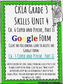 CKLA Grade 3 Unit 4: Ancient Rome Ch. 6 Google Form