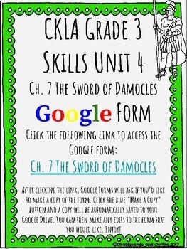 CKLA Grade 3 Unit 4: Ancient Rome Ch. 7 Google Form
