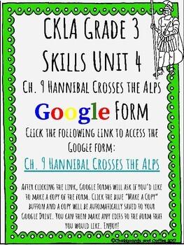 CKLA Grade 3 Unit 4: Ancient Rome Ch. 9 Google Form