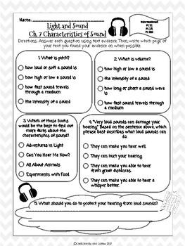 CKLA Grade 3 Unit 5 Ch. 7 Light and Sound Reading Quiz