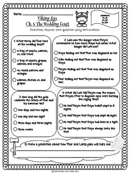 CKLA Grade 3 Unit 6 Ch. 5 Viking Age Reading Quiz