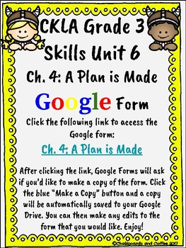 CKLA Grade 3 Unit 6: Vikings Ch. 4 Google Form