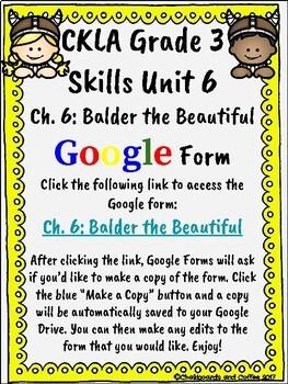 CKLA Grade 3 Unit 6: Vikings Ch. 6 Google Form