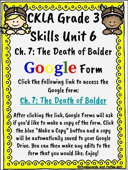 CKLA Grade 3 Unit 6: Vikings Ch. 7 Google Form