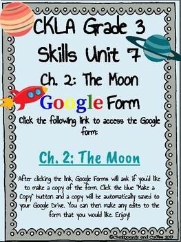 CKLA Grade 3 Unit 7: Astronomy Ch. 2 Google Form