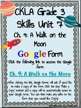 CKLA Grade 3 Unit 7: Astronomy Ch. 9 Google Form