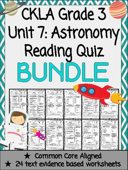 CKLA Grade 3 Unit 7 Astronomy Reading Quiz BUNDLE