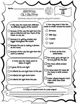 CKLA Grade 3 Unit 7 Ch. 2 Astronomy Reading Quiz