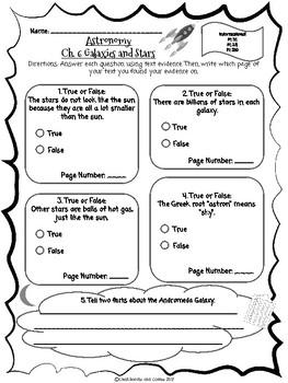 CKLA Grade 3 Unit 7 Ch. 6 Astronomy Reading Quiz