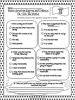 CKLA Grade 3 Unit 8 Ch. 1 Native Americans Reading Quiz