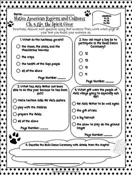 CKLA Grade 3 Unit 8 Ch. 5 Native Americans Reading Quiz