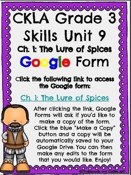 CKLA Grade 3 Unit 9: European Explorers Ch. 1 Google Form