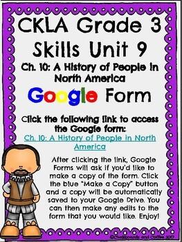 CKLA Grade 3 Unit 9: European Explorers Ch. 10 Google Form