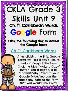 CKLA Grade 3 Unit 9: European Explorers Ch. 11 Google Form