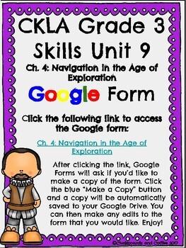 CKLA Grade 3 Unit 9: European Explorers Ch. 4 Google Form