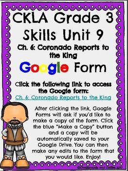 CKLA Grade 3 Unit 9: European Explorers Ch. 6 Google Form