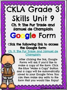 CKLA Grade 3 Unit 9: European Explorers Ch. 9 Google Form