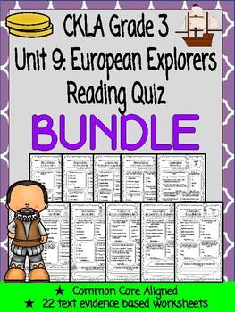 CKLA Grade 3 Unit 9 European Explorers Reading Quiz BUNDLE