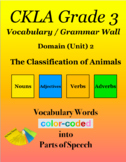 CKLA Grade 3 SKILLS Vocabulary Grammar Wall Unit 2 The Cla