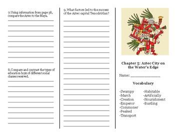 CKLA Grade 5 Chapter 5 Trifold