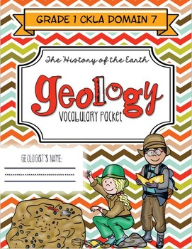 CKLA History of the Earth/Geology Vocabulary Packet, Grade 1