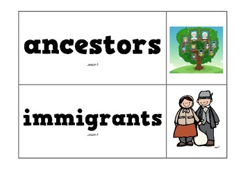 CKLA Domain 11 Immigration Vocabulary Pack, Grade 2