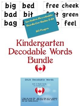 CKLA Kindergarten Decodable Words BUNDLE