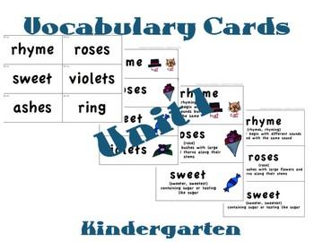 CKLA Kindergarten Domain 1 Vocabulary Cards