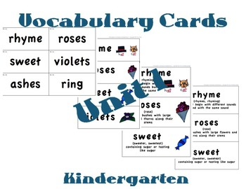 CKLA Kindergarten Domain 1 Vocabulary Cards