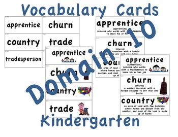 CKLA Kindergarten Domain 10 Vocabulary Cards