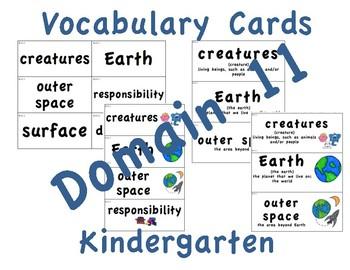 CKLA Kindergarten Domain 11 Vocabulary Cards