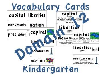 CKLA Kindergarten Domain 12 Vocabulary Cards