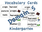CKLA Kindergarten Domain 5 Vocabulary Cards