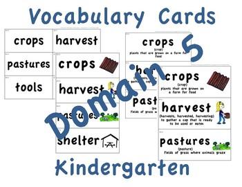 CKLA Kindergarten Domain 5 Vocabulary Cards