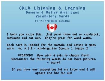 CKLA Kindergarten Domain 6 Vocabulary Cards