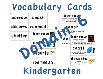 CKLA Kindergarten Domain 6 Vocabulary Cards