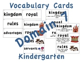 CKLA Kindergarten Domain 7 Vocabulary Cards