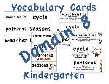 CKLA Kindergarten Domain 8 Vocabulary Cards
